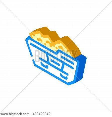 Construction Waste Container Isometric Icon Vector. Construction Waste Container Sign. Isolated Symb
