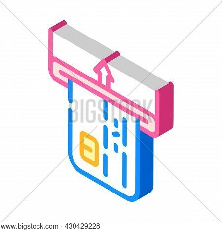 Card Accept Isometric Icon Vector. Card Accept Sign. Isolated Symbol Illustration