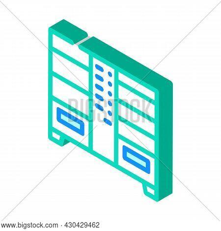 Double Vending Machine Isometric Icon Vector. Double Vending Machine Sign. Isolated Symbol Illustrat