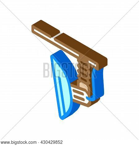 Soft Box Lamp Isometric Icon Vector. Soft Box Lamp Sign. Isolated Symbol Illustration