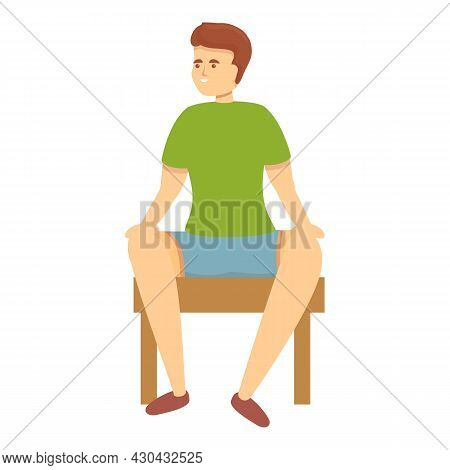 Resting Man Gym Icon Cartoon Vector. Sport Exercise. Active Workout