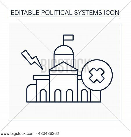 Anarchy Line Icon. Government Absence. Absolute Freedom From Control.political System Concept.isolat