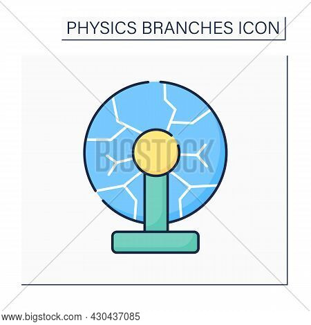Plasma Physics Color Icon. Ionized, Electrically Quasi-neutral Matter State. Strong Electromagnetic