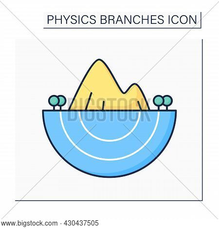 Geophysics Color Icon. Natural Science. Processes Under Influence Of Internal Forces Of Earth And Co
