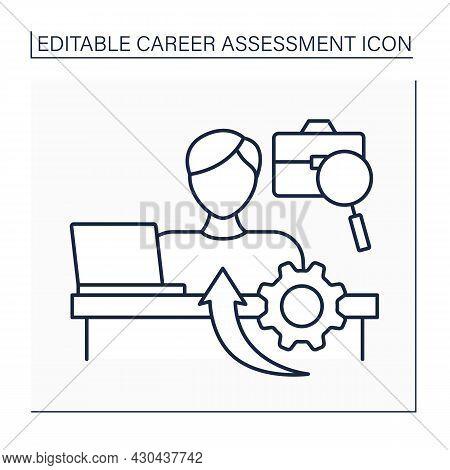 Entrepreneur Line Icon. Individuals Create New Businesses. Organizes, Manages And Assumes Enterprise
