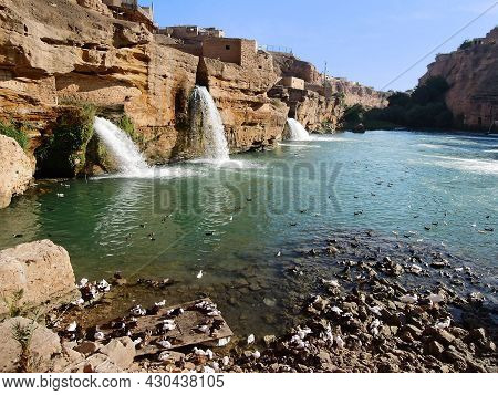 Artificial Waterfalls Of Historical Hydraulic System In Shushtar, Iran. Irrigation System Was Built