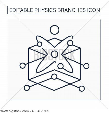 Solid-state Physics Line Icon. Properties Of Solid Materials. Electromagnetic And Structural Propert