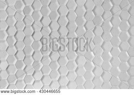 Gray Hexagon Background Wall Texture. Wall Background. Background Texture. Wall With Textured Hexago