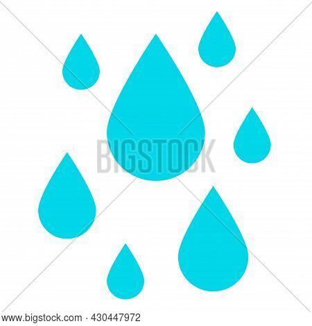 Water Drop Vector Icon On White Background. Water Drops Flat Vector Symbol Sign From Modern Agricult
