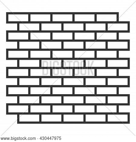 White Brick Wall. Seamless Texture. Construction, Renovation And Brickwork. Vector Illustration