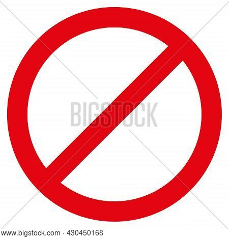 Forbid Icon With Flat Style. Isolated Vector Forbid Icon Image On A White Background.