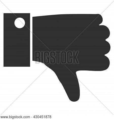 Thumb Down Icon With Flat Style. Isolated Raster Thumb Down Icon Image On A White Background.