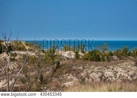 View Of Lake Michigan After Cresting The Dunes On The Dune Succession Trail In Indiana Dunes Nationa