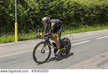Bourgoin-jallieu, France - 07, May, 2017: The French Cyclist Bryan Nauleau Of Direct Energie Team  R