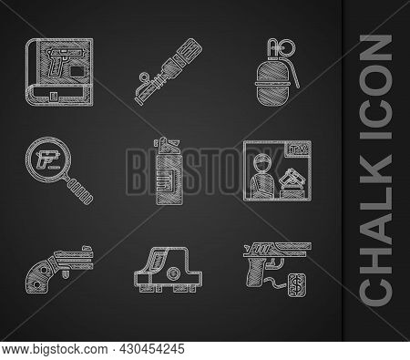 Set Weapons Oil Bottle, Collimator Sight, Buying Gun Pistol, Advertising Weapon, Small Revolver, Pis
