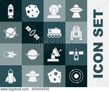 Set Solar System, Satellite, Robot, Astronomical Observatory, Satellites Orbiting The Planet, Rocket