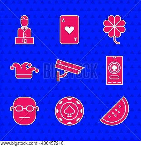 Set Security Camera, Casino Chips, Slot Machine With Watermelon, Poker Tournament Invitation, Poker