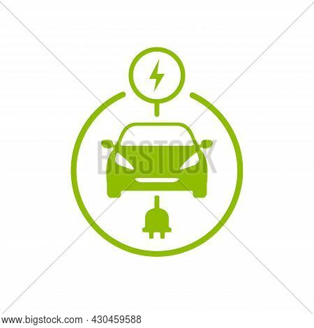 Electric Car Charge Icon Symbol. Ev Charge Station.