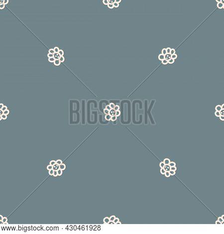 Seamless Background Flower Gender Neutral Pattern. Whimsical Minimal Earthy 2 Tone Color. Kids Nurse