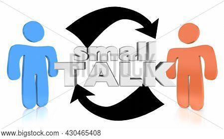 Small Talk Two People Chatting Gossip Trivia Conversation 3d Illustration