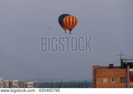 Aerostat And Aeronautics. High Quality Photo. High Quality Photo