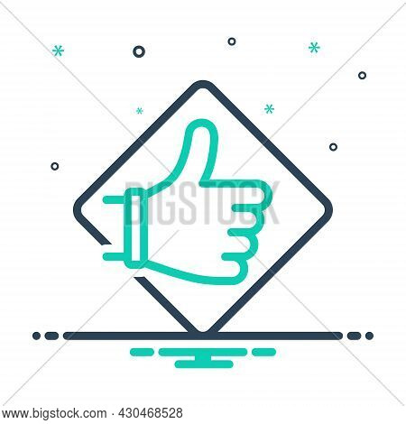 Mix Icon For Recommend Like Accept Request Feedback Application Ok Gesture Approving Say-a-good-word