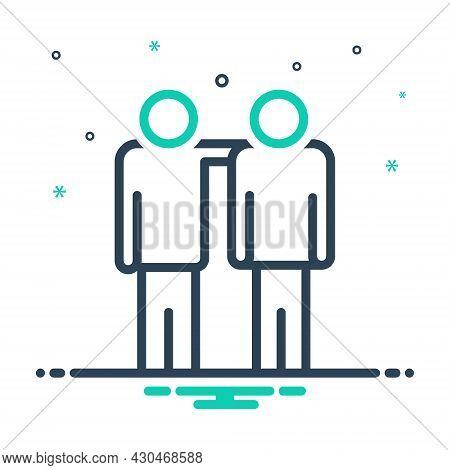 Mix Icon For Fellow Fella Codger Bloke Partner Mate Colleague Companion Friend Buddy
