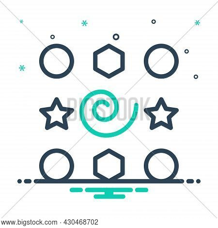 Mix Icon For Elements Inwardness Part Piece Graphic Shape