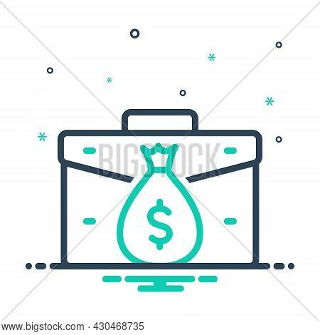 Mix Icon For Income Earning Wages Revenue Finances Yield Money Benefits Assets Received Stipend