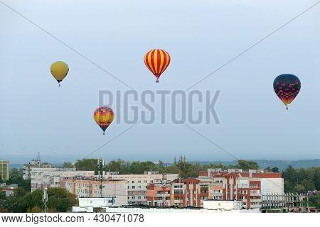 Nizhny Novgorod, Russia, 08.19.2021,balloon Aerostat, In The Sky Over The City, Nizhny Novgorod 800.