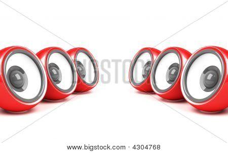 Red Stylish Audio System