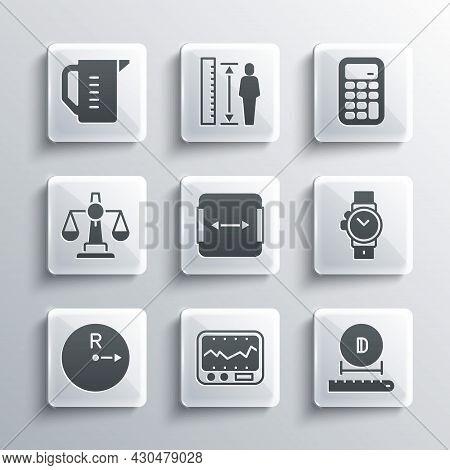 Set Measuring Instrument, Diameter, Wrist Watch, Area Measurement, Radius, Scales Of Justice, Cup An