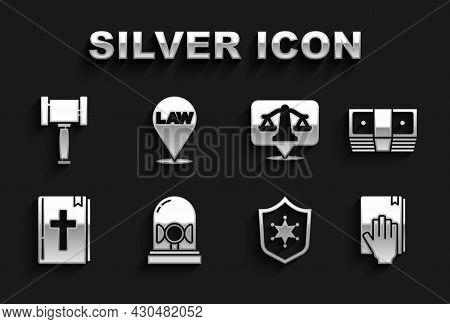 Set Flasher Siren, Bribe Money Cash, Oath The Holy Bible, Police Badge, Bible Book, Scales Of Justic