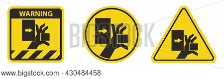 Hand Crush Force From Left Symbol Sign
