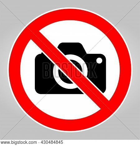 Do Not Record Images,no Photography Sign On White Background