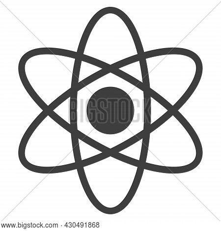 Atom Icon With Flat Style. Isolated Vector Atom Icon Image On A White Background.