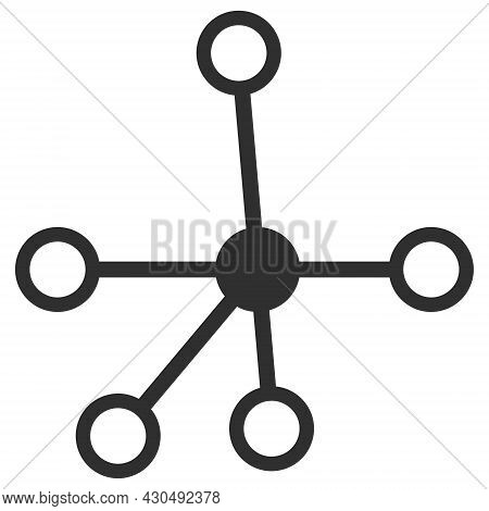 Connections Icon With Flat Style. Isolated Vector Connections Icon Image On A White Background.