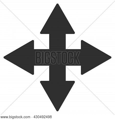 Expand Arrows Icon With Flat Style. Isolated Vector Expand Arrows Icon Image On A White Background.