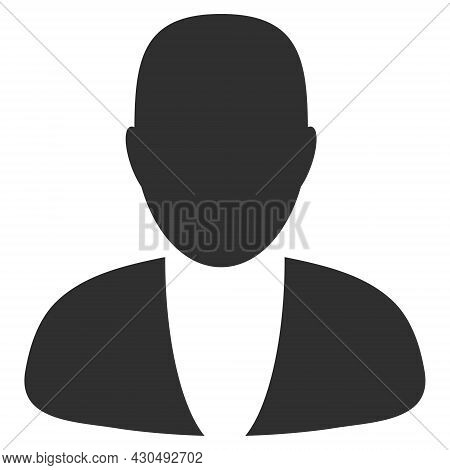 Guy Person Icon With Flat Style. Isolated Vector Guy Person Icon Image On A White Background.