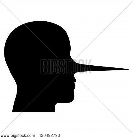 Liar Person Icon With Flat Style. Isolated Vector Liar Person Icon Image On A White Background.