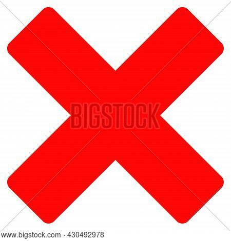 Reject Cross Icon With Flat Style. Isolated Vector Reject Cross Icon Image On A White Background.