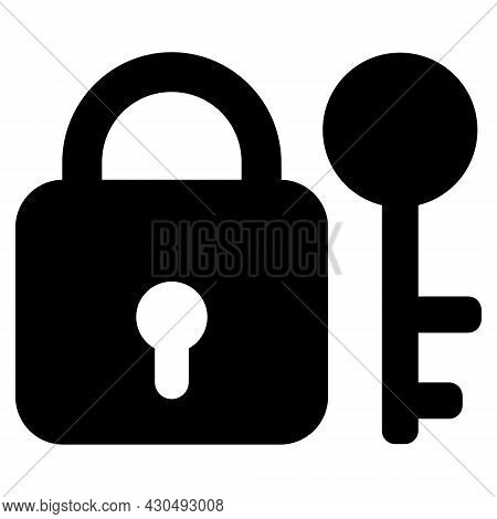 Secrecy Icon With Flat Style. Isolated Vector Secrecy Icon Image On A White Background.