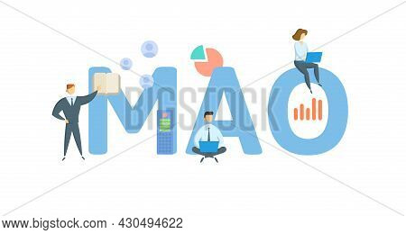 Mao, Maximum Allowable Offer. Concept With Keyword, People And Icons. Flat Vector Illustration. Isol