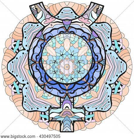 Mercury Sign On Mandala, Astrology Concept Art. Tattoo Design. Horoscope Signs, Magic Symbols, Icons