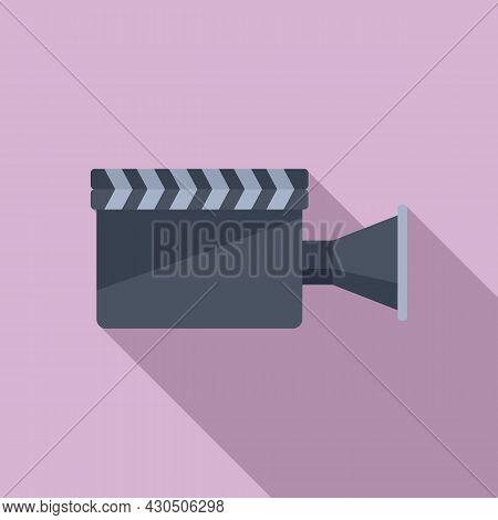 Film Clapper Icon Flat Vector. Movie Board. Clapperboard Cinema