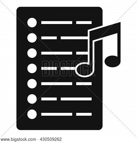 Song Playlist Icon Simple Vector. Mobile Application. Music Song List