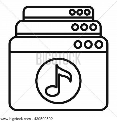 Playlist Icon Outline Vector. Music Song. Audio List