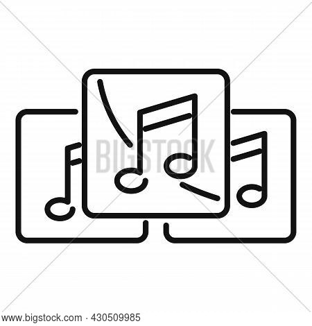 Playlist Interface Icon Outline Vector. Music Song List. Mobile Phone