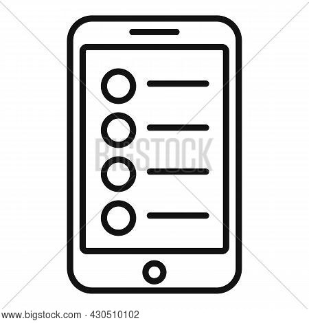 Phone App Songs Icon Outline Vector. Music Song. Audio Playlist