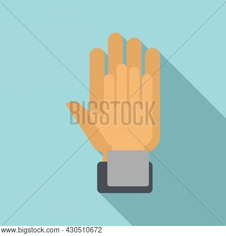 Hands Reliability Icon Flat Vector. Safety Dependable. Social Together